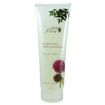 Sampon cu brusture si neem pentru scalp sanatos - 100 Percent Pure Cosmetics