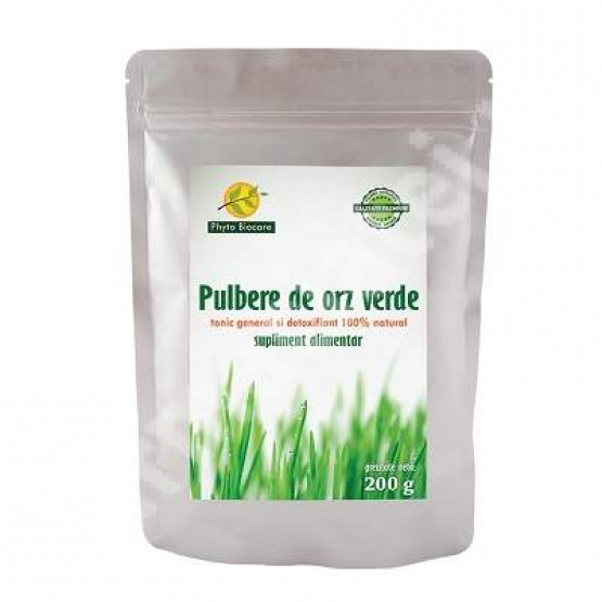 Pulbere de orz verde, 200 g, Phyto Biocare