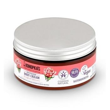 Crema de corp hidratanta cu trandafir, toate tipurile de piele, 300 ml - Dr. Konopka