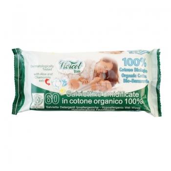 Servetele umede BIO din bumbac organic, extract de musetel - VIVICOT BABY BIO