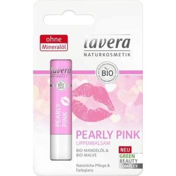 Balsam de buze nuantat, cu ulei de migdale, Pearly Pink - LAVERA