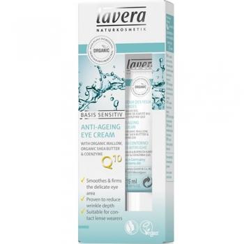 Crema contur ochi antirid, coenzima Q10, Basis Sensitiv - LAVERA