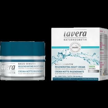 Crema de noapte regeneranta cu aloe vera si migdale, Basis Sensitiv - LAVERA