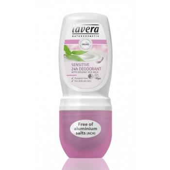 Deodorant roll-on 24h Sensitive, pentru piele sensibila - LAVERA