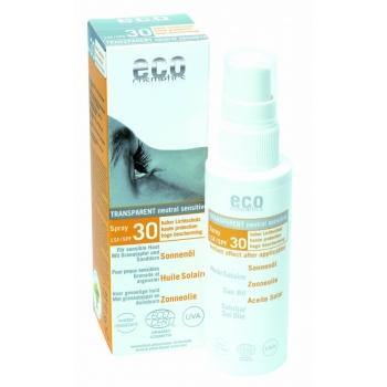 Ulei de plaja bio pentru fata si corp cu protectie solara inalta FPS 30 - Eco Cosmetics…