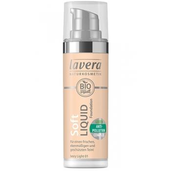 Fond de ten Soft Liquid cu complex anti-poluare - Ivory Light 01, 30ml - LAVERA