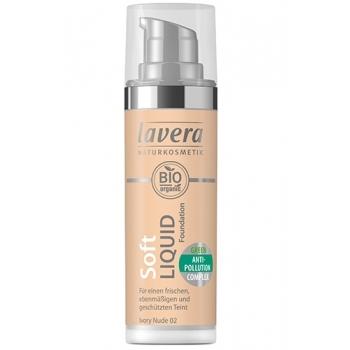 Fond de ten Soft Liquid cu complex anti-poluare - Ivory Nude 02, 30ml - LAVERA