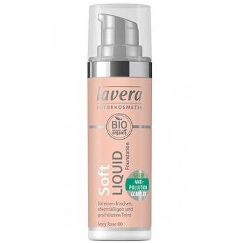 Fond de ten Soft Liquid cu complex anti-poluare - Ivory Rose 00, 30ml - LAVERA