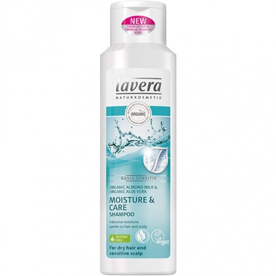 Sampon hidratare si ingrijire par uscat si scalp sensibil, Basis Sensitiv - LAVERA