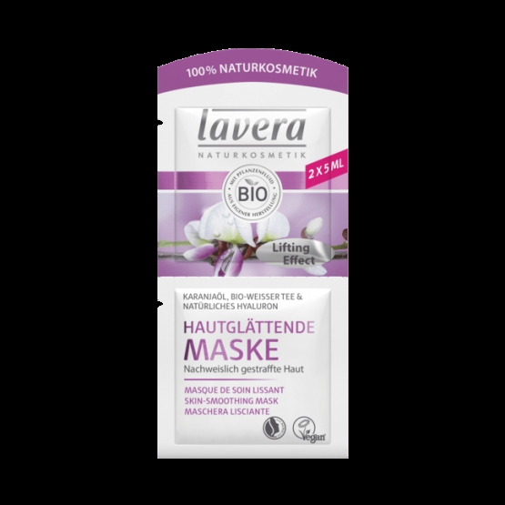 Masca pentru fermitate cu ulei de karanja, ceai alb si acid hialuronic, 10ml - LAVERA