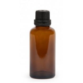 Recipient cosmetic din sticla ambra, 50 ml - NAJEL