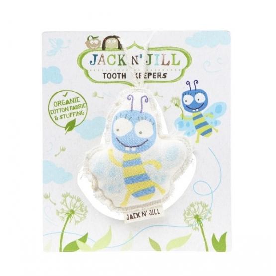 Saculet din bumbac organic pentru pastrarea dintilor de lapte, Buzzy - Jack n' Jill