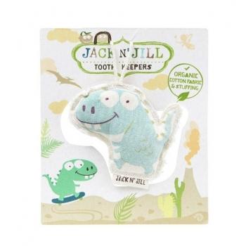 Saculet din bumbac organic pentru pastrarea dintilor de lapte, Dino - Jack n' Jill