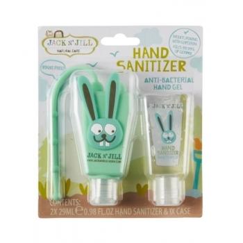 Gel antibacterian pentru maini Bunny, cu suport si rezerva 2 x 29ml - Jack n' Jill