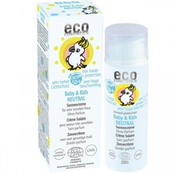 Crema bio protectie solara bebe si copii FPS50+, piele foarte sensibila, FARA PARFUM…