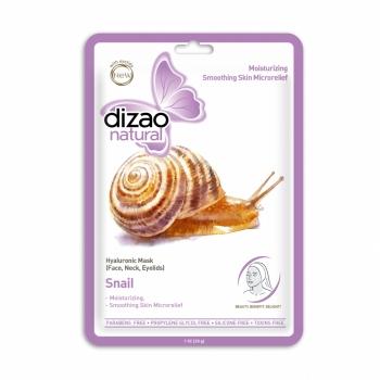 Masca hidratanta Dizao Natural, tip servetel, cu extract de melc si acid hialuronic, 28 g