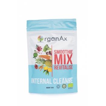 Smoothie Mix, Revitalise Detox, iarba de orz, spirulina, iarba de grau si chlorella, OrganAx, 120 g