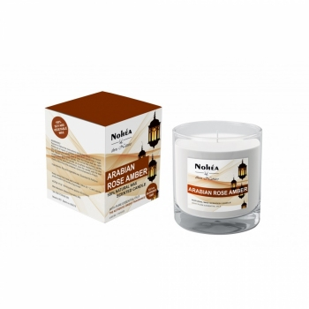 Lumanare parfumata din soia, Nohea, Arabian Rose Amber 220g