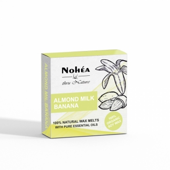 Pastile parfumate din ceara de soia, Nohea, Almond Milk Banana 40g