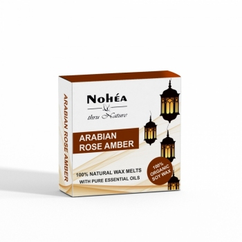 Pastile parfumate din ceara de soia, Nohea, Arabian Rose Amber 40g