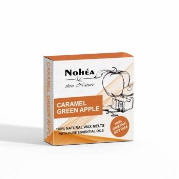 Pastile parfumate din ceara de soia, Nohea Caramel Green Apple 40g