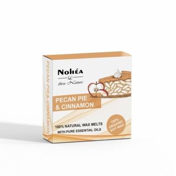Pastile parfumate din ceara de soia, Nohea, Pecan Pie & Cinnamon, 40g